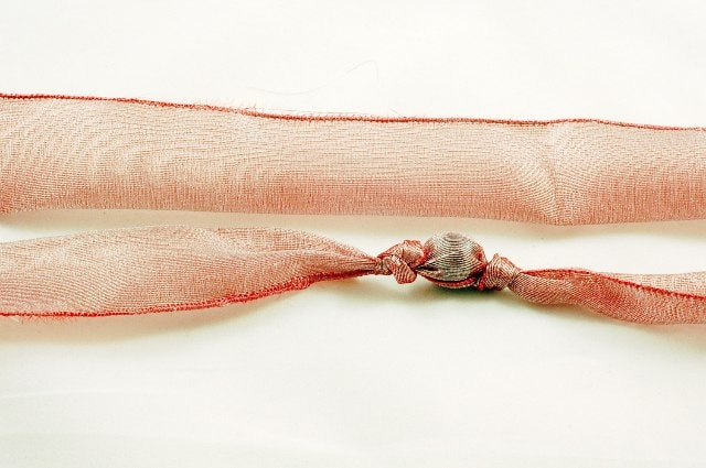 Fabric Bead Necklace DIY