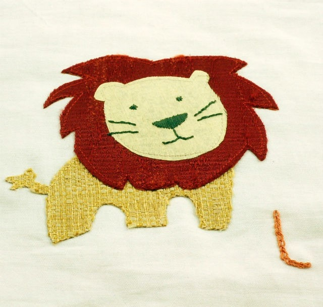 lion fabric book