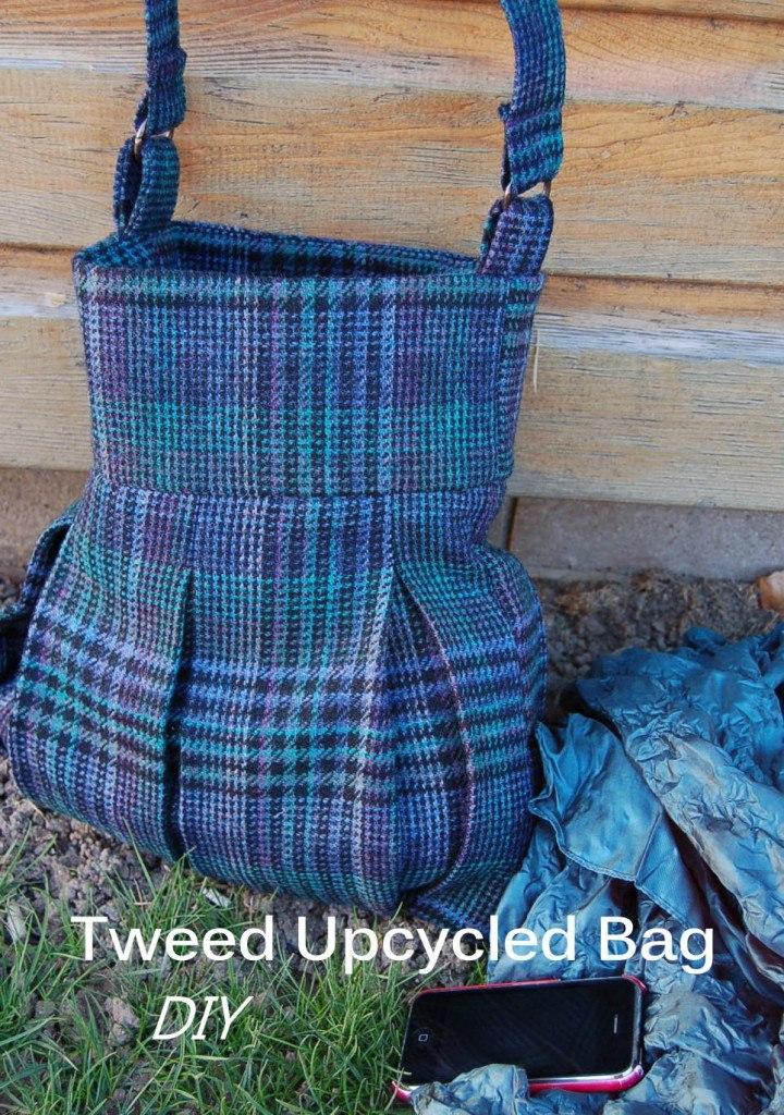 Tweed Upcycled Bag - tutorial