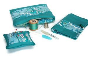 Turqouise sewing set