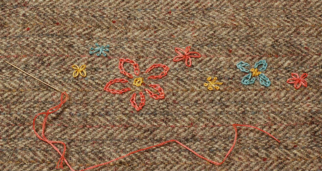 Embroidered Tweed