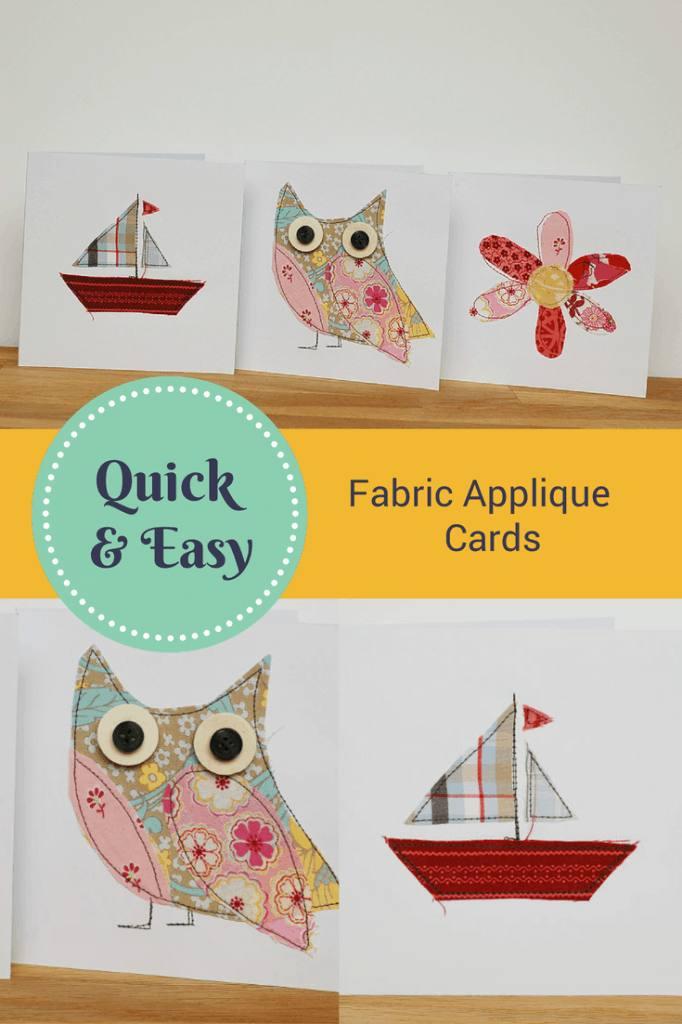 Fabric Applique Cards