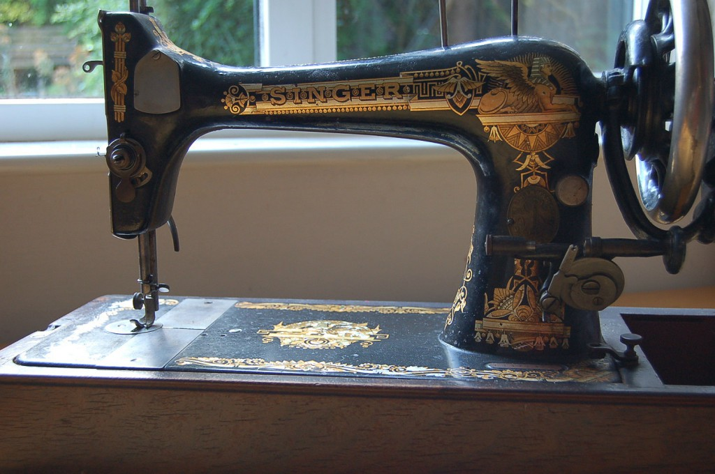 handturned sewing machine