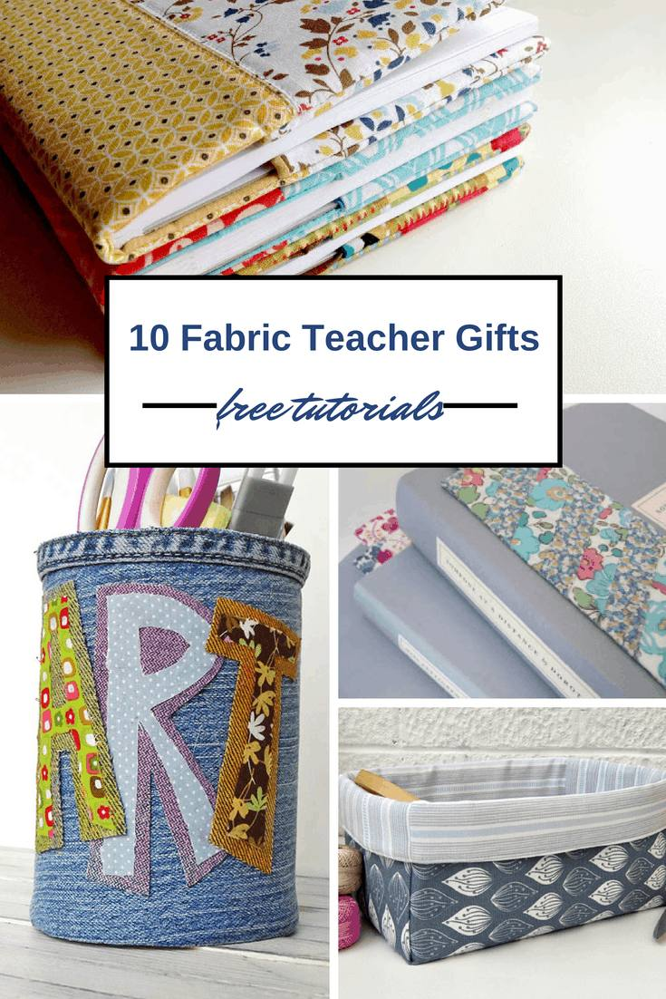 10 Diy Teacher Gifts Fabric Thank You Presents Vickymyerscreations