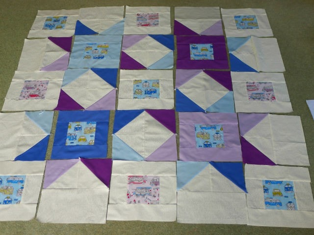 quilt lay out