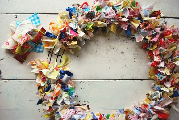 Fabric Scrap wreath