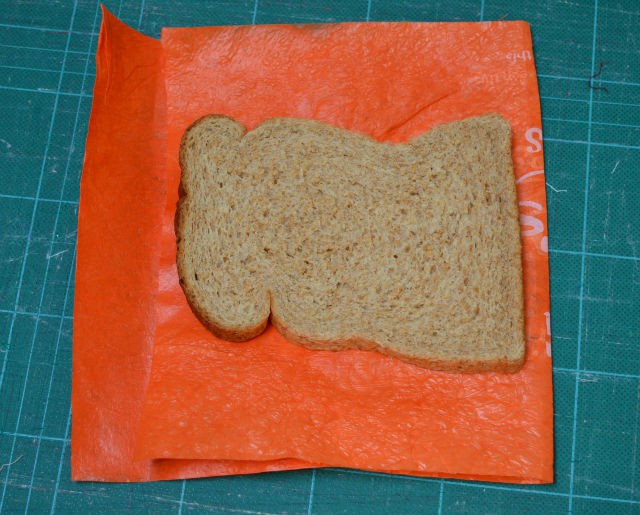 Recycle plastic sandwich wrapper