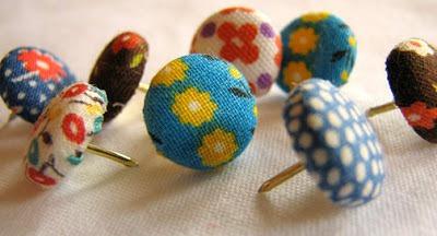 fabric scrap thumbtacks