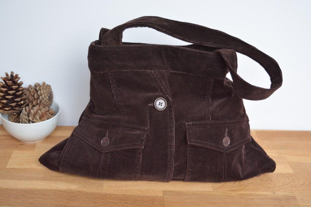 Chooclate Cord Shoulder Bag