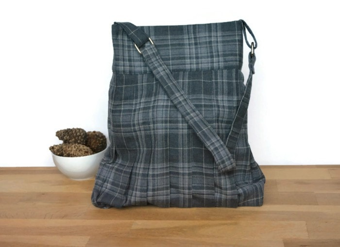 Grey tweed bag - Vicky myers creations