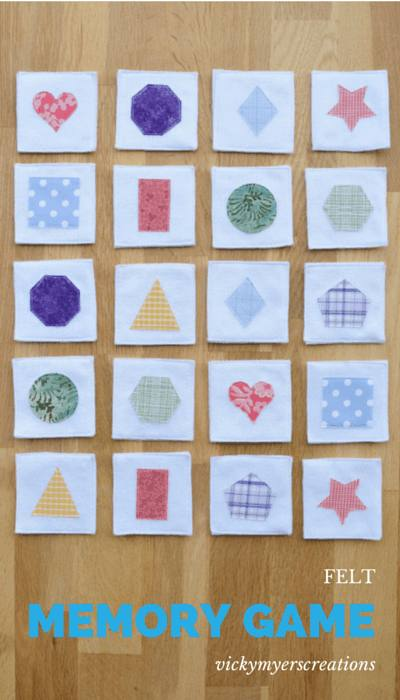 Felt Memory game Vicky Myers Creations