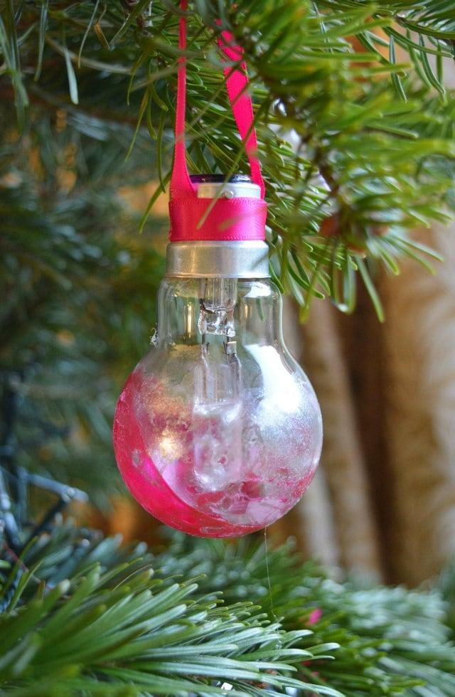 Upcycled Light Bulb Decoration