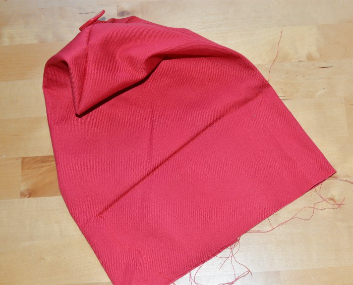 stitching in cardboard