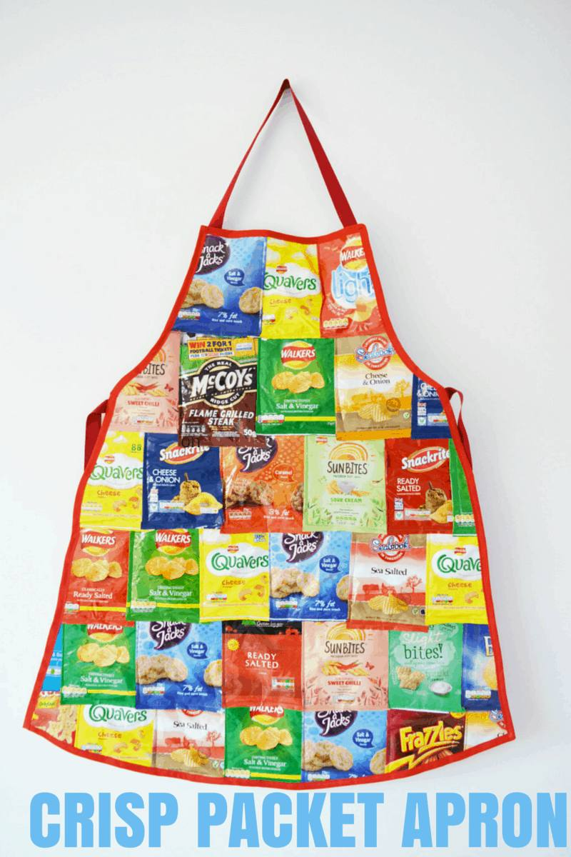 DIY Crisp Packet Apron