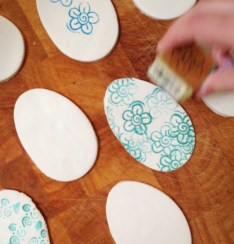 Ink Stamp Easter Eggs