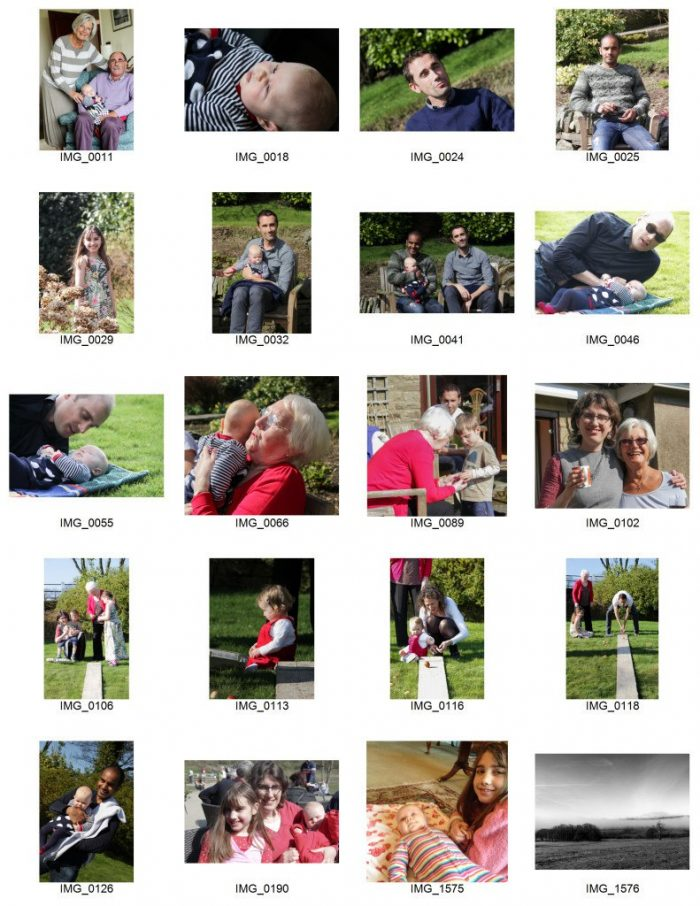 L contact sheet, My Photo School Lightroom Courses