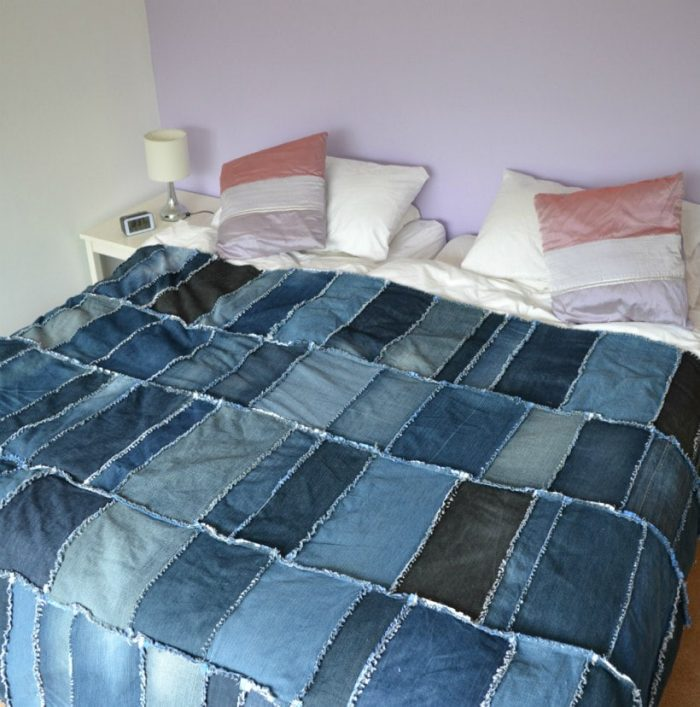 DIY Denim Rag Quilt