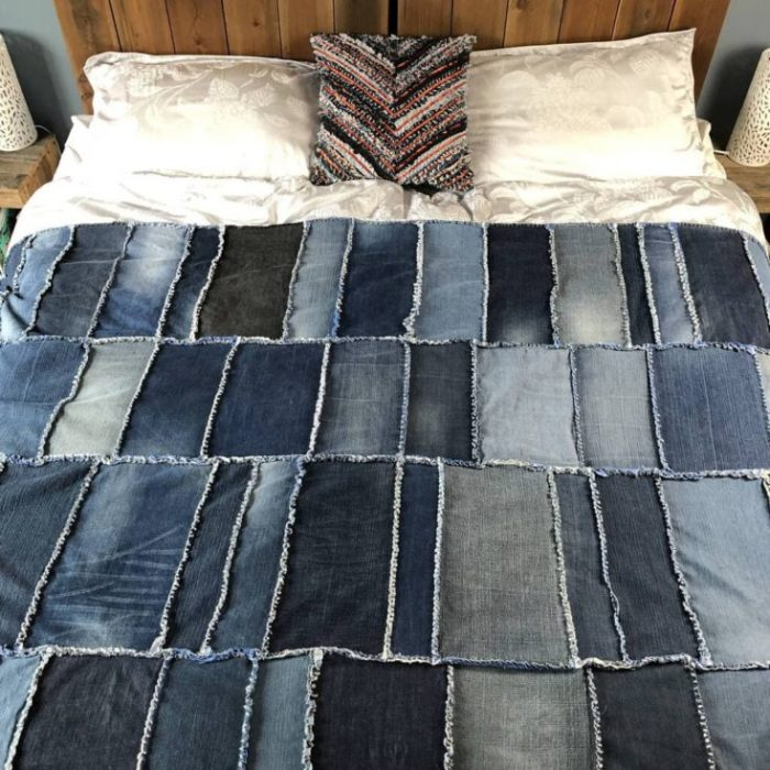 How to make a denim rag quilt
