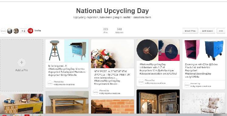 nationalUpcyclingDay Pinterest Board