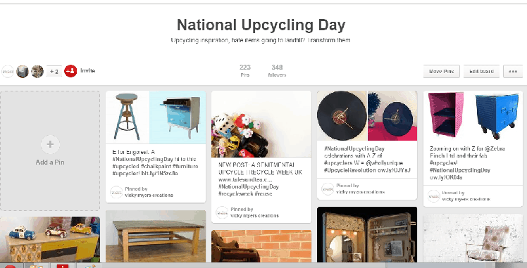 nationalUpcyclingDay Pinterest Board