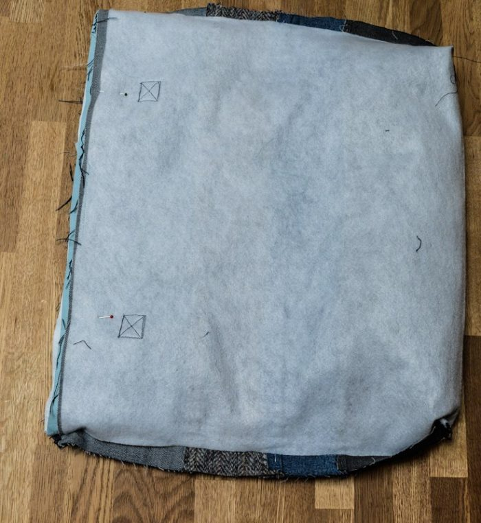 attach bag and lining together