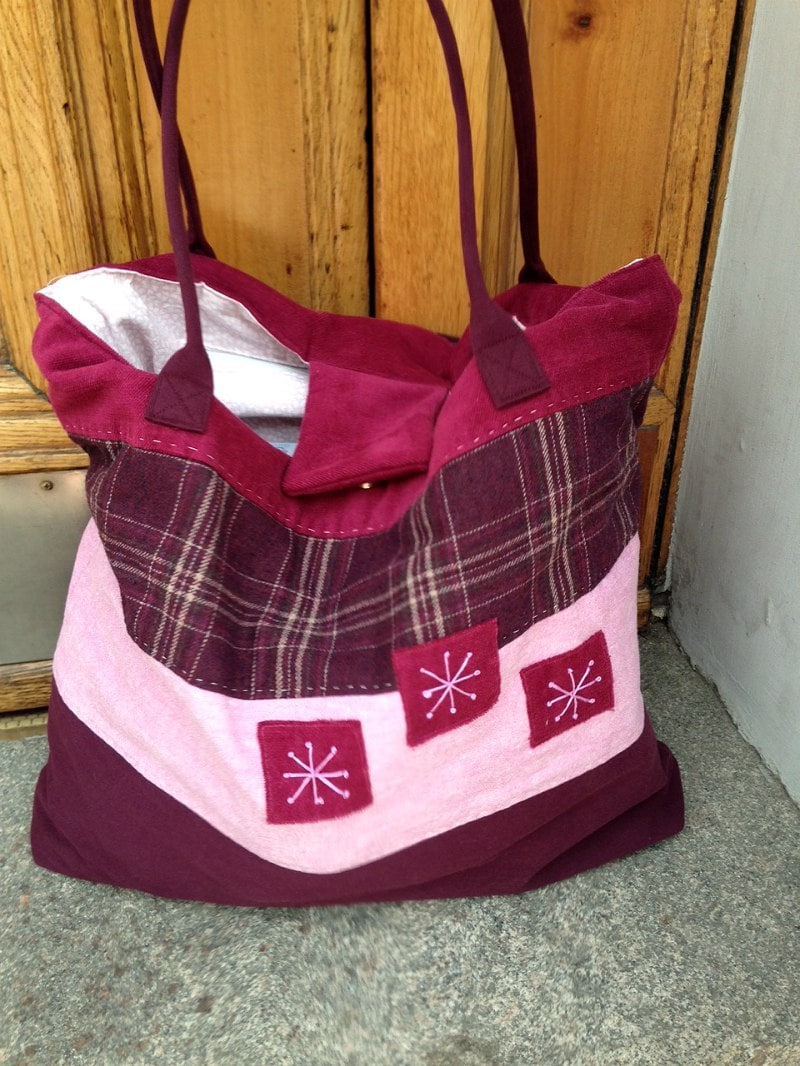 Large UPcycled Pink Tote