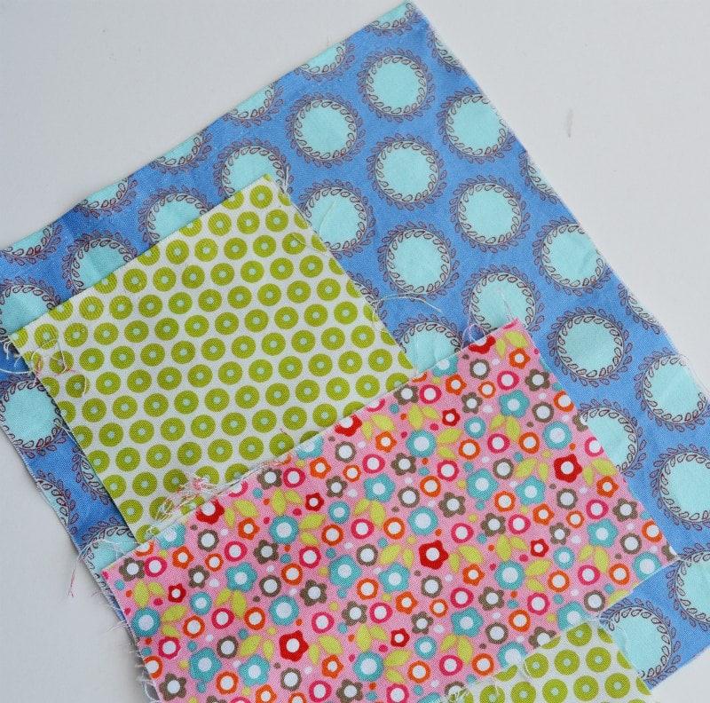 Three fabrics for applique