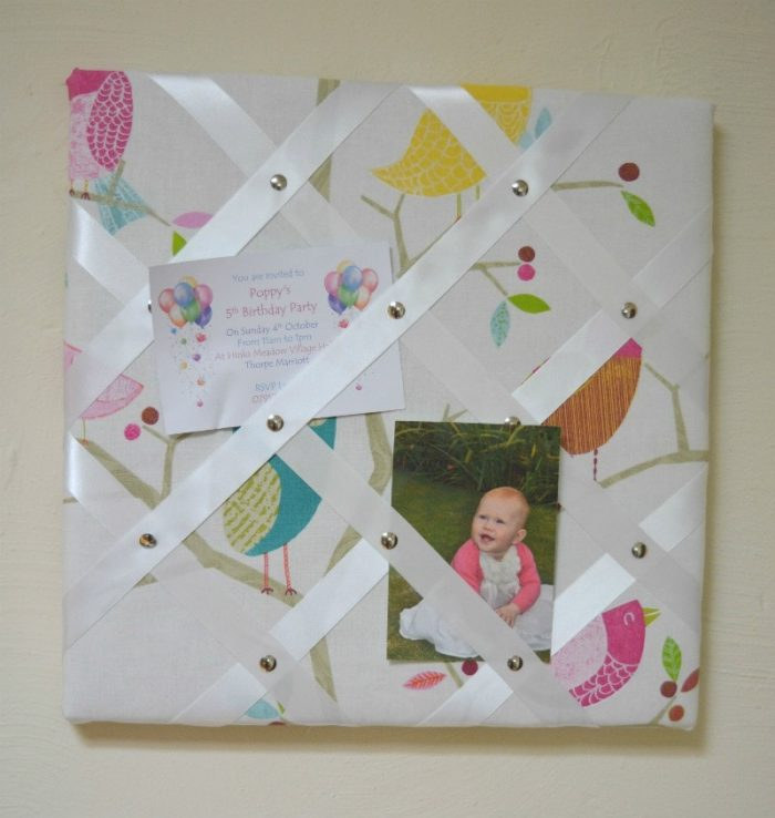 how to make a pinboard with ribbon