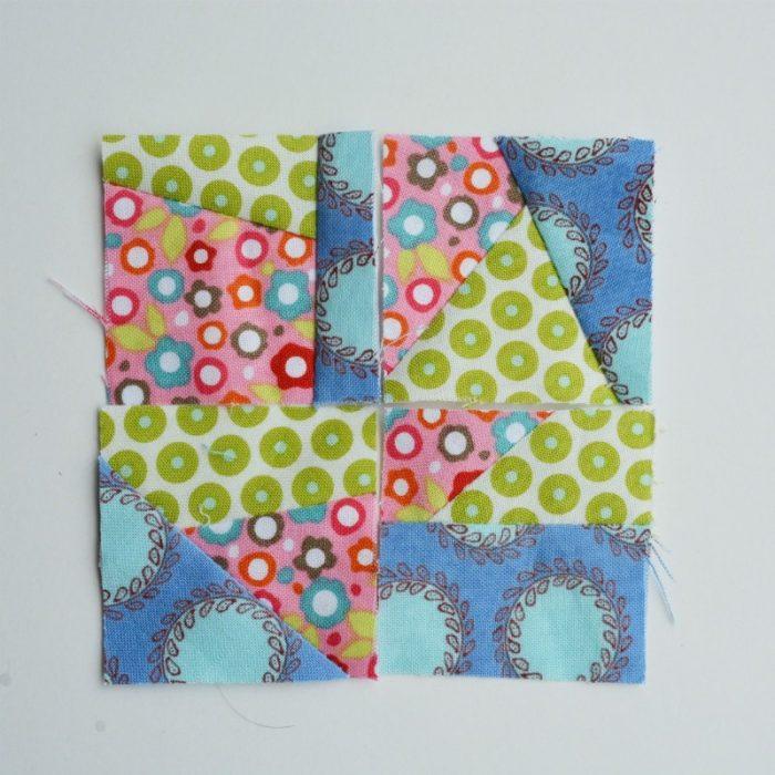 Four scrap squares