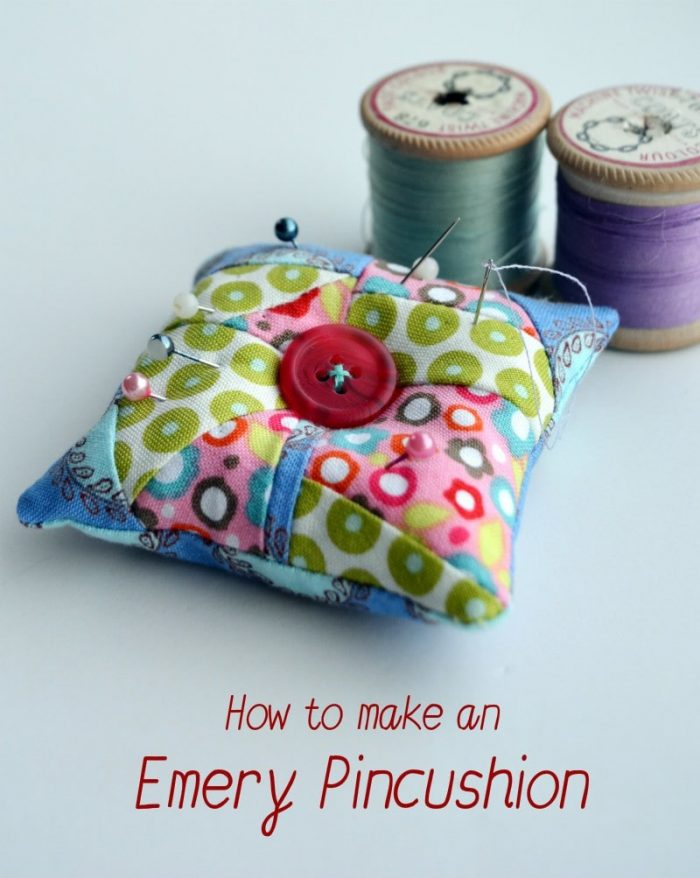 Tutorial for DIY Emery Pincushion, sharpen your needles as you use the pincushion