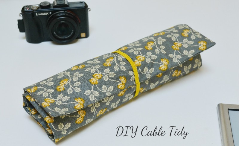 Create a cable tidy from one fat quarter