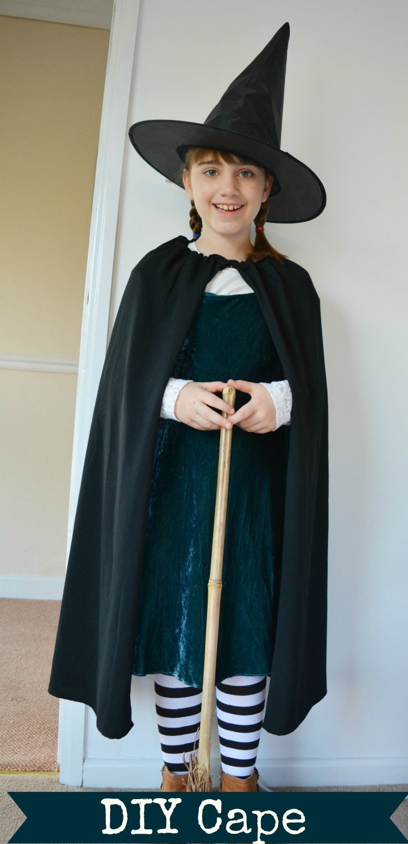 Worst Witch Costume DIY Cape - vicky myers creations