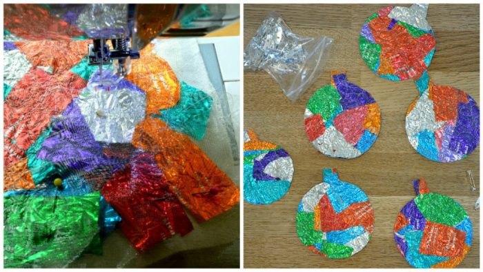 Sweet wrapper baubles