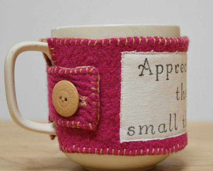 UPcycled Felt DIY Mug Cozy