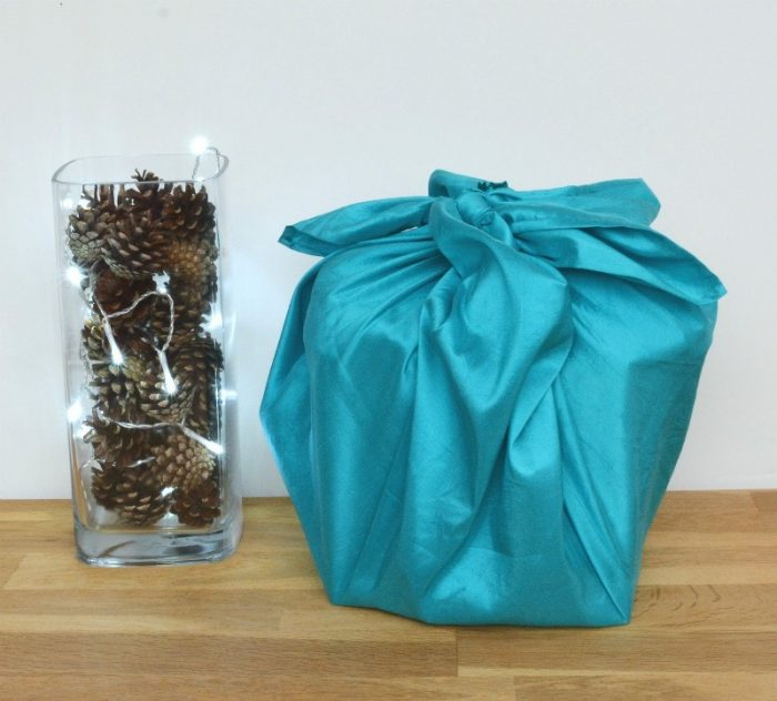 furoshik - gift wrapping with silk scarf