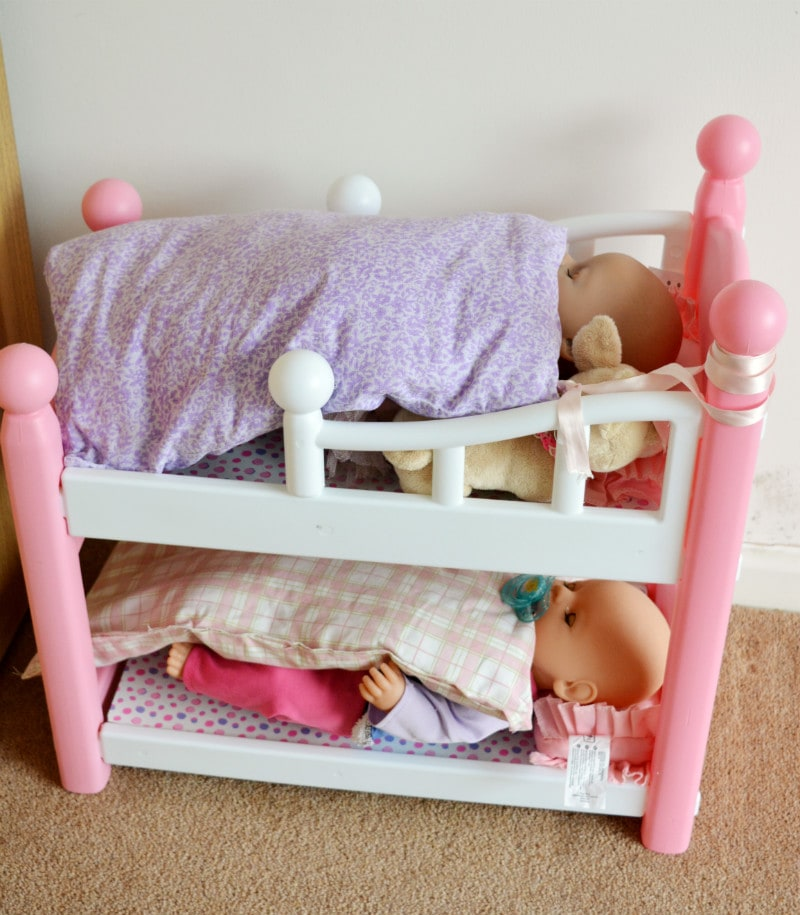 Dolls duvet covers from pillowcases, teach your child to sew with projects they love