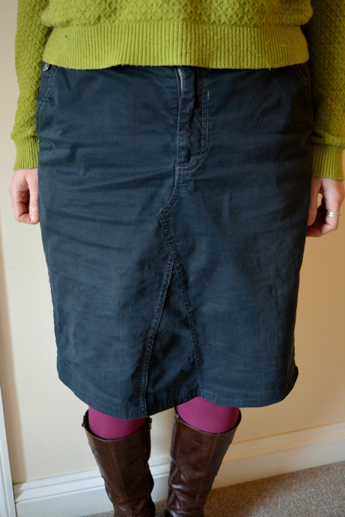 Transform jeans into a skirt