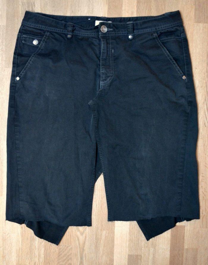 unpick seams in former trousers
