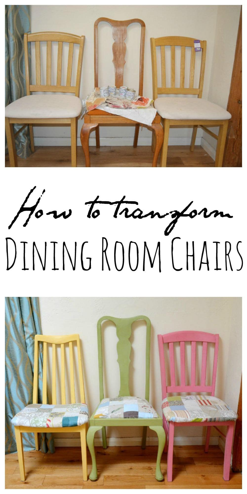 100 Upcycled Shabby Chic Furniture Get Shabby Chic  : Transform your dining room chairs with chalk paint and fabric scraps from shabbychiccafe.com size 1000 x 2000 jpeg 178kB
