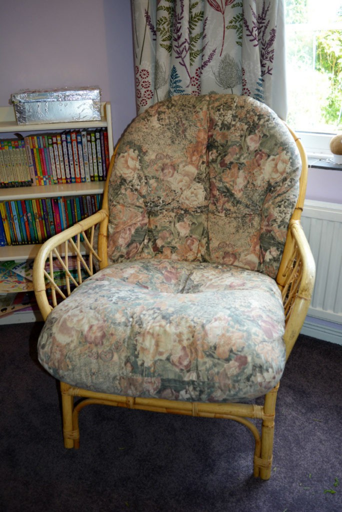 wicker chair ready for a new lease of life