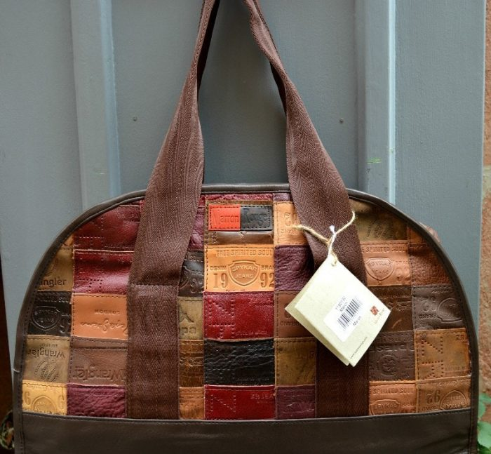 leather upcycled bag
