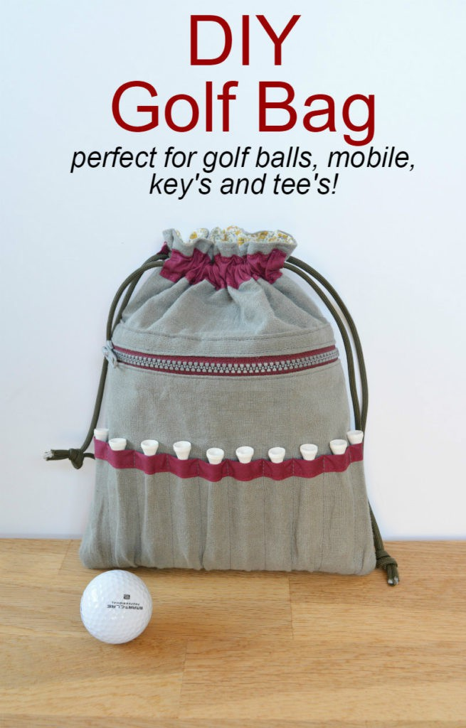 golf bag - golf balls and tees
