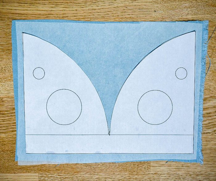 template for creating the campervan art