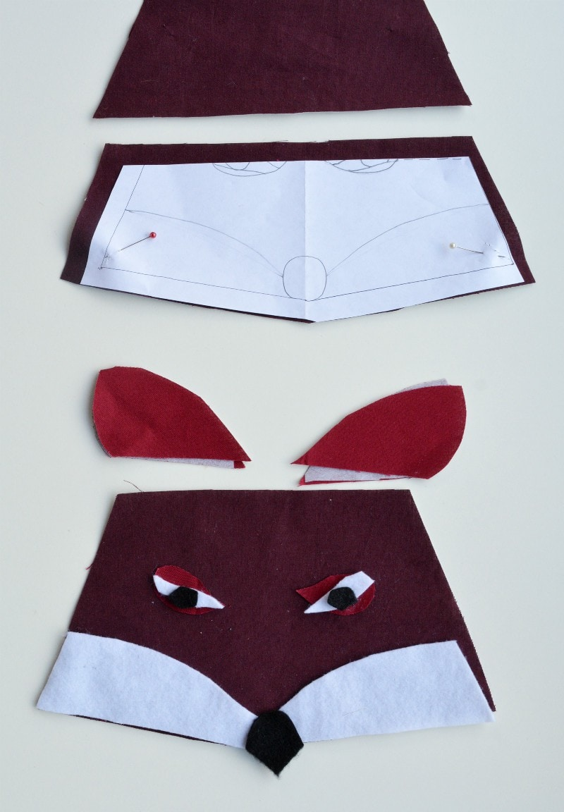 fabric-pieces-for-fox-pencil-case