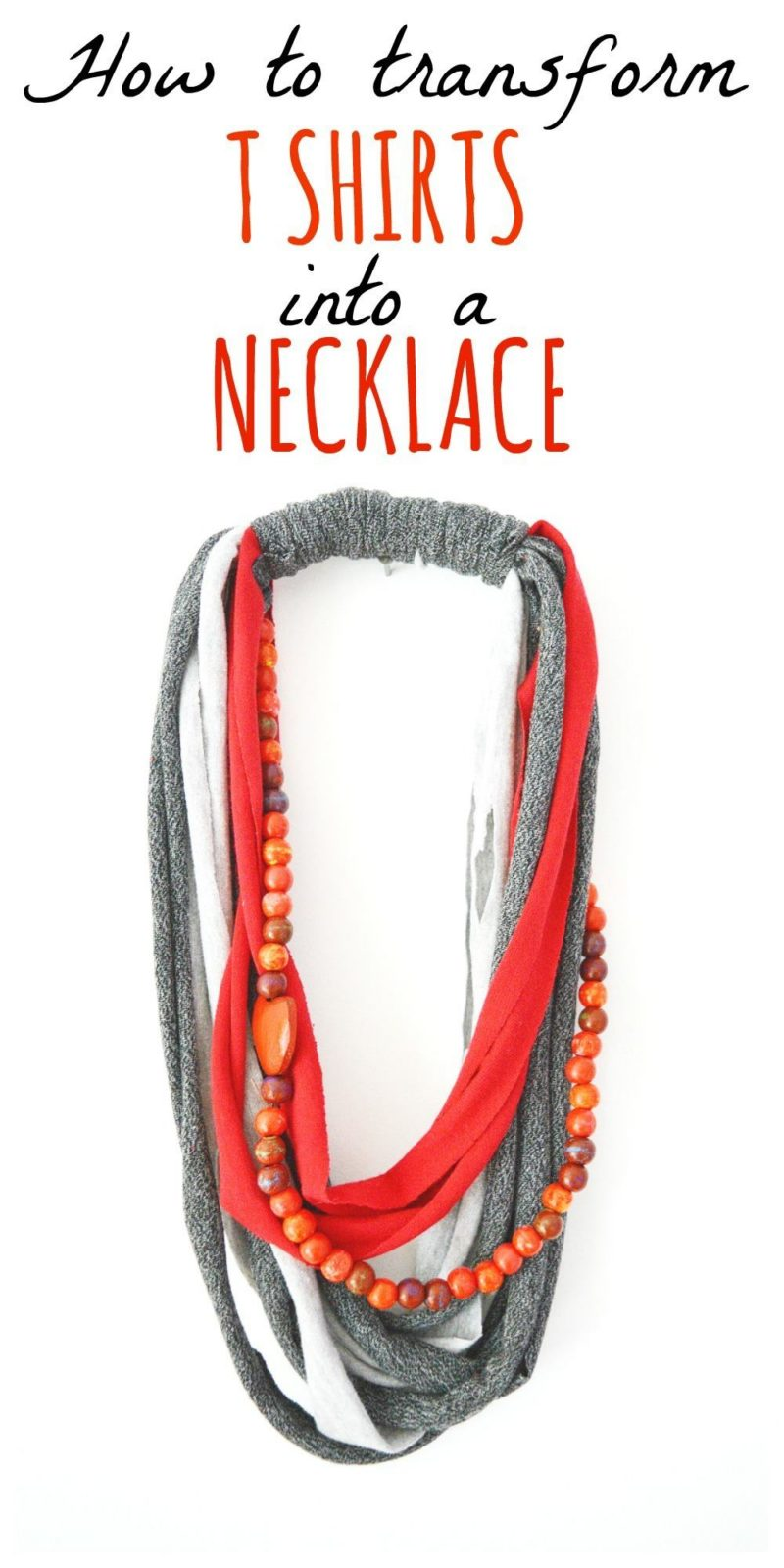 DIY T Shirt Necklace #recycletshirt