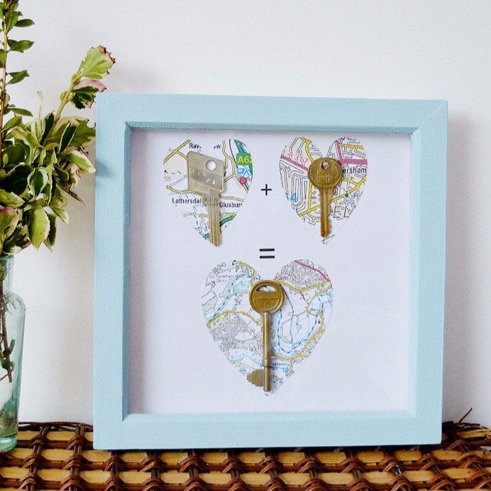UPcycle Keys into Heart Picture
