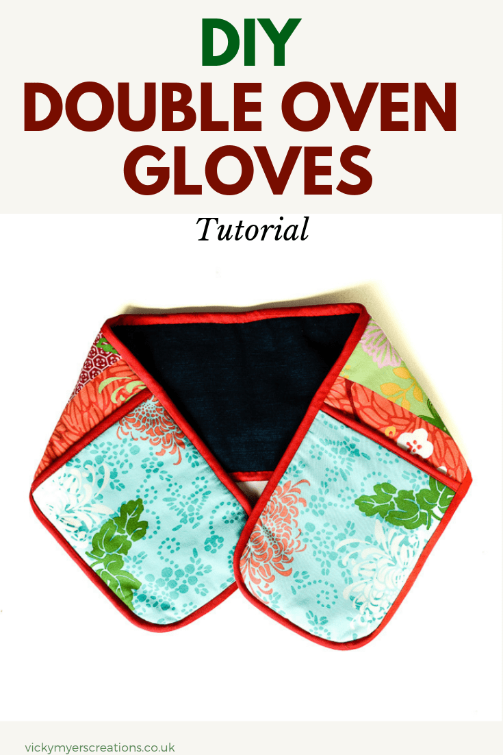 You would never believe these easy double oven mitts are upcycled from jeans a duvet cover!! Follow the easy tutorial to learn how to make your own Double Oven Gloves #DIYOvenMitts #Ovenglovepattern