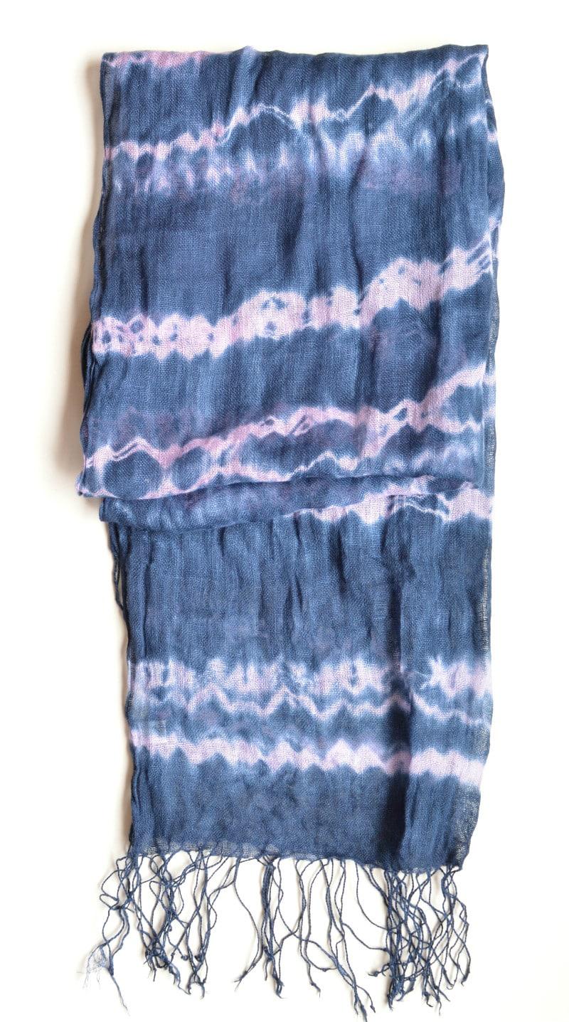 How to make a shibori scarf, DIY, Tutorial