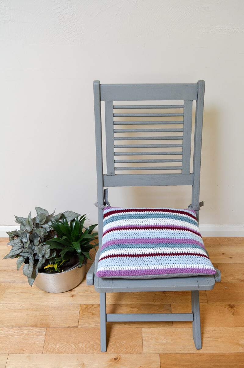 Tutorial for easy crochet cushion DIY Crochet cushion for garden chair, Tutorial