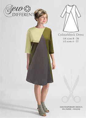 Colourblock Dress Pattern Sew Different